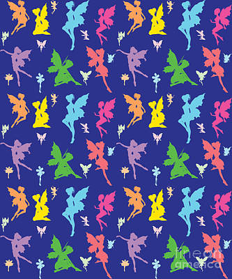 Colorful Flying Fairy Print by Naviblue