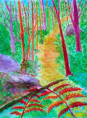 Painting - Colorful Forest by Anne Sands