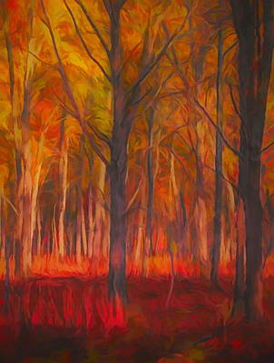 Painting - Colorful Forest In Autumn by Dan Sproul