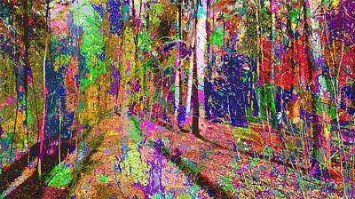Painting - Colorful Forest by Samuel Majcen