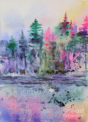 Painting - Colorful Forest by Zaira Dzhaubaeva