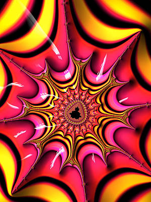 Candy Digital Art - Colorful Fractal Art With Candy-colors by Matthias Hauser
