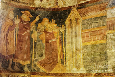 Photograph - Colorful Fresco In Medieval Church by Patricia Hofmeester