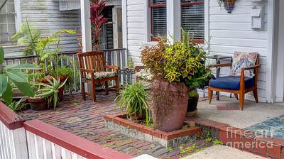 Photograph - Colorful Front Porch Patio by Ules Barnwell