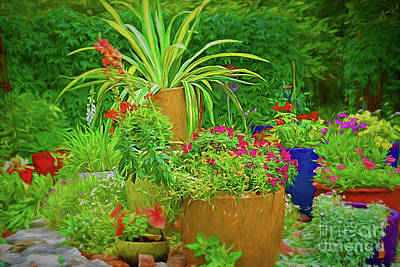 Photograph - Colorful Garden 122217-1 by Ray Shrewsberry