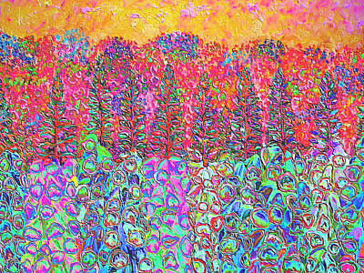 Mixed Media - Colorful Garden by Elizabeth Lock