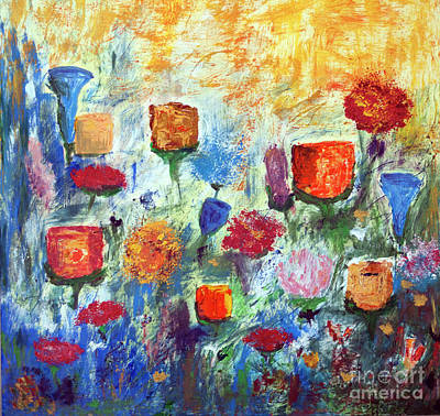 Painting - Colorful Garden by Haleh Mahbod