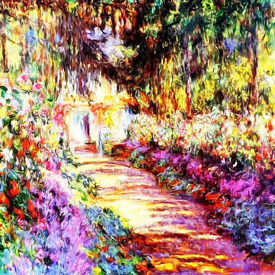 Paintography Painting - Colorful Garden by Munir Alawi