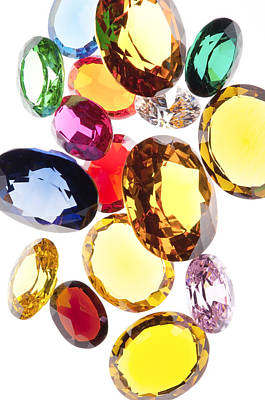 Cut Glass Photograph - Colorful Gems by Setsiri Silapasuwanchai