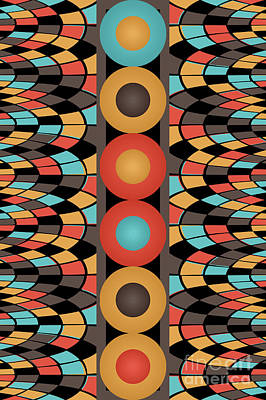 Colorful Geometric Composition Art Print
