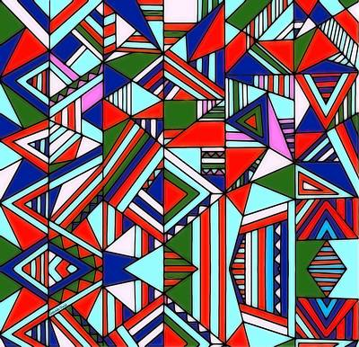 Mixed Media - Colorful Geometric Design by Gabriella Weninger - David