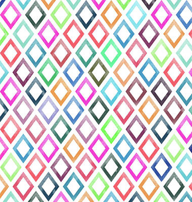 Colorful Geometric Patterns  Art Print by Amir Faysal