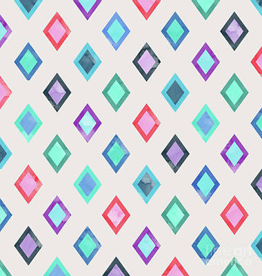 Colorful Geometric Patterns II Art Print by Amir Faysal