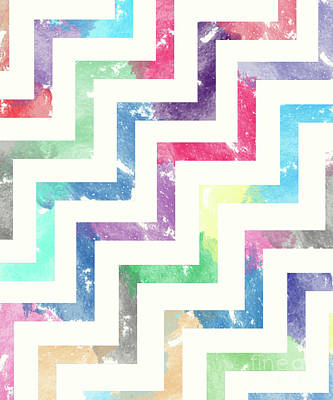 Colorful Geometric Patterns Vi Print by Amir Faysal