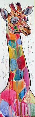 Colorful Giraffe Art Print by Kovacs Anna Brigitta