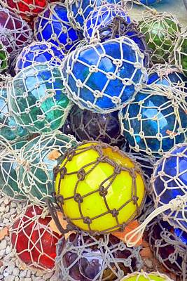 Colorful Glass Balls Art Print by Carla Parris