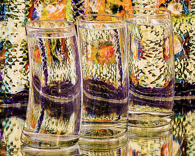 Photograph - Colorful Glasses by Menachem Ganon