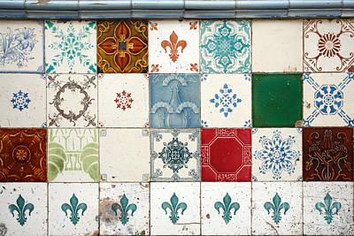 Ceramics Photograph - Colorful Glazed Tiles by Gaspar Avila