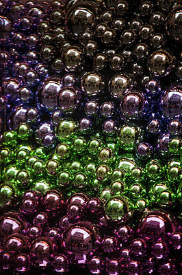 Colorful Glittering Christmas Balls Art Print by Jenny Rainbow
