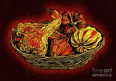 Photograph - Colorful Gourd Basket 146 by Ray Shrewsberry