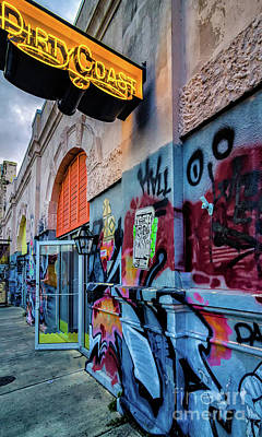Photograph - Colorful Graffiti And Dirty Coast Sign-nola by Kathleen K Parker