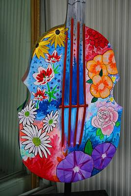 Photograph - Colorful Guitar by Kathryn Meyer