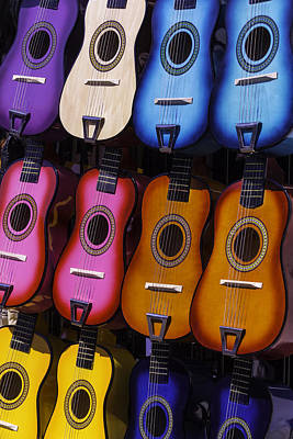 Autistic Photograph - Colorful Guitars by Garry Gay
