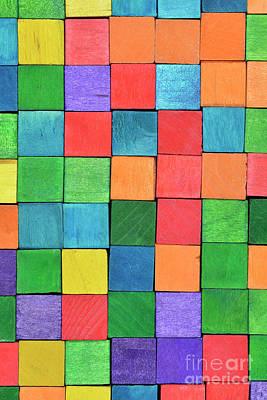 Craft Photograph - Colorful Handicraft Cubes by George Atsametakis