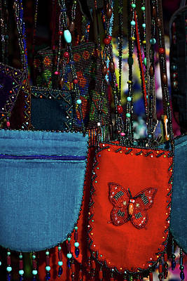 Photograph - Colorful Hanging Pouches by Stuart Litoff