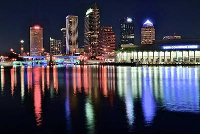 Photograph - Colorful Harbor In Tampa Bay by Frozen in Time Fine Art Photography