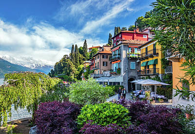 Photograph - Colorful Harborfront In Varenna by Carolyn Derstine