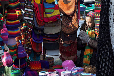 1-war Is Hell Royalty Free Images - Colorful hat lady at the market Royalty-Free Image by Pierre Leclerc Photography