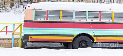 Photograph - Colorful Hippy Bus Panorama  by Edward Fielding
