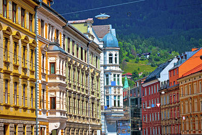 Photograph - Colorful Historic Architecture Of Alpine Town Innsbruck by Brch Photography