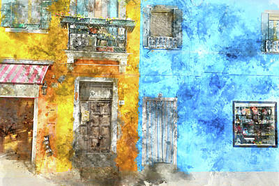 Photograph - Colorful Homes In Burano Italy Near Venice by Brandon Bourdages