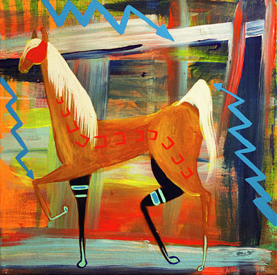 Painting - Colorful Horse by Danny Frost