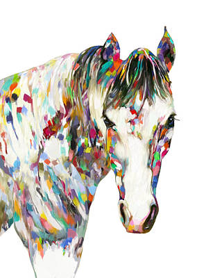 Painting - Colorful Horse by Enzie Shahmiri