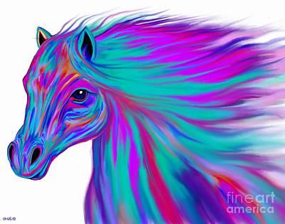 Digital Art - Colorful Horse by Nick Gustafson