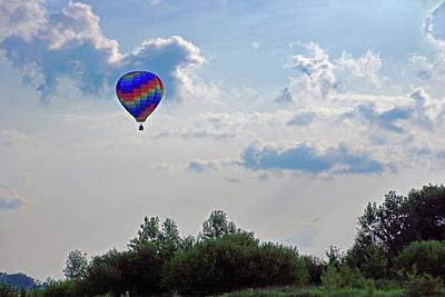 Photograph - Colorful Hot Air Balloon by Angela Murdock