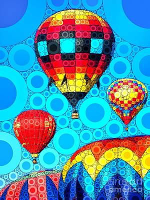 Colorful Hot Air Balloons Print by Amy Cicconi