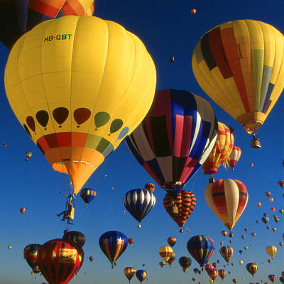 Photograph - Colorful Hot Air Balloons by Art America Gallery Peter Potter