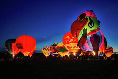 Photograph - Colorful Hot Air Balloons by Mountain Dreams