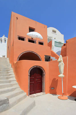 Photograph - Colorful House In Oia, Santorini, Greece by Elenarts - Elena Duvernay photo