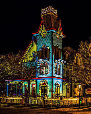 Photograph - Colorful House Lights by Nick Zelinsky