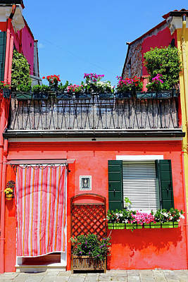Photograph - Colorful House On The Island Of Burano, Italy by Richard Rosenshein