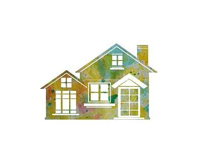 Watercolor Painting - Colorful House T Shirt by Oiyee At Oystudio