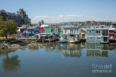 Photograph - Colorful Houseboats In Victoria, Canada by Patricia Hofmeester