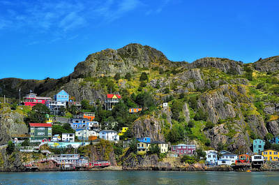 Colorful Houses In Newfoundland Art Print by Steve Hurt