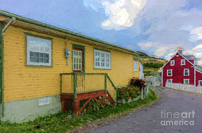 Photograph - Colorful Houses In Trinity - Painterly by Les Palenik