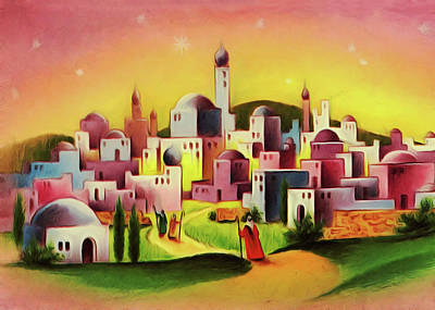Painting - Colorful Houses by Munir Alawi